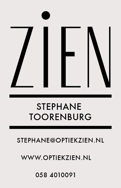 business card achter